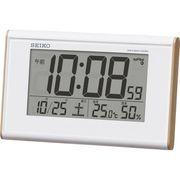 セイコー 温・湿度表示付 電波目覚まし時計 SQ771B