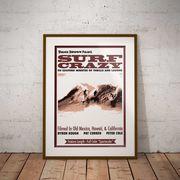 【ブルース・ブラウンフィルム】A3ポスター・Surf Crazy (サーフクレイジー)