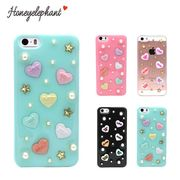 【Honeyelephant】 candy heart case for iPhone5/5s/SE カバー キャンディーハート