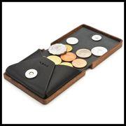 LIFE【日本製・木製雑貨】木と革のコインケース