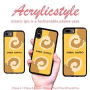 iPhone 7 8 X ケース 柴犬 動物 アニマル ロゴ しっぽ かわいい