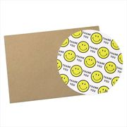 《コレクション》スマイリーフェイス 封筒付きグリーティングカード/サンキュー