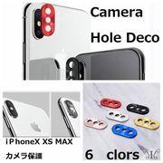 定形外710015】iPhone X XS MAX アクセサリー カメラ デコ 保護 Camera Hole Deco シール 純正品質