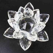 クリスタルガラス蓮花台 カラー無し(透明) 大サイズ  品番: 10157