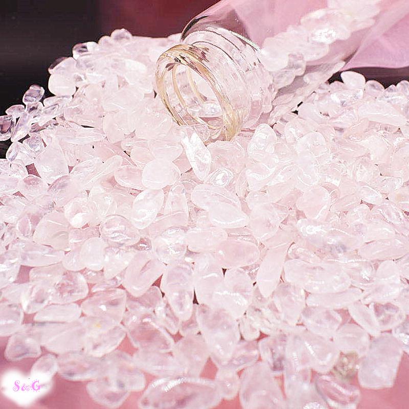 【即納 実物撮影】高品質 天然石 パワーストーン さざれ石 ローズクォーツ 浄化 クリスタル 水晶