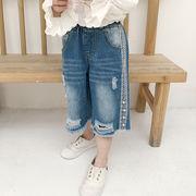 新しいデザイン 夏バージョン キッズ洋服 若いもの 女子供服 サイド エッジ レース ビ
