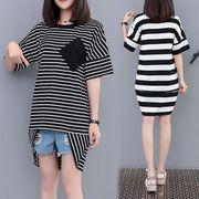 春夏新商品730696 大きいサイズ ドレス 婦人服 日韓風 ワンピース3L 4L 5L 6L