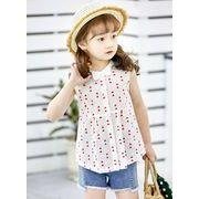 【韓国ファッション】 Tシャツ ノースリーブ子供服 子供服 キッズ 児童 夏 韓国 ファッション