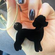 可愛い「トイプードル」をモチーフのバッグチャーム・動物シリーズ レーザー加工