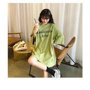 春夏新商品730791  大きいサイズ 韓国 レディース ファッション Tシャツ ワンピース  LL-4L