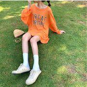 ロゴロングTシャツ レディース 韓国 オルチャン かわいい おしゃれ 透け感