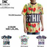 【即納】★フラワープリントTシャツ★4色 花柄ロゴブロック  大きいサイズ ストリート