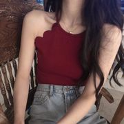 夏 韓国風 アウトドア ファッション 何でも似合う 着やせ 着やせ デザイン 感 波 キ