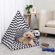 ペット テント 犬 猫 ペットハウス 室内テント ベッド ティピーテント おしゃれ かわいい S M