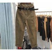 【大きいサイズM-4XL】【秋冬新作】ファッションパンツ♪ブラック/ブラック2色展開◆
