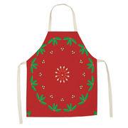 エプロン キッチン 綿麻 クリスマス 季節 料理