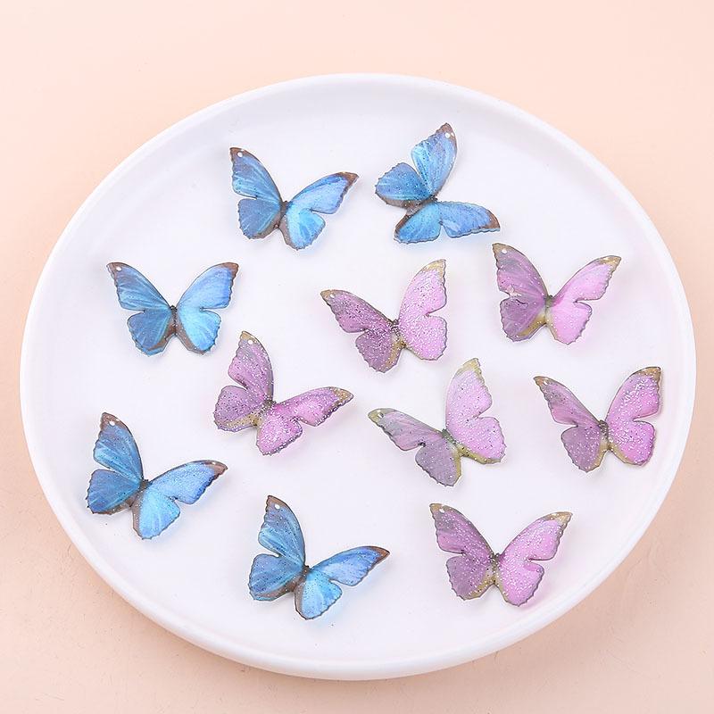 蝶々のチャーム ピアスパーツ 手芸材料 ハンドメイド部品