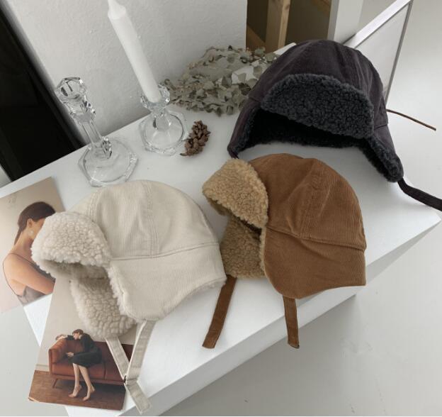 子供帽 帽子 秋冬 ふわふわ帽 ファション 2色 コーデュロイ 子供ハット 可愛い帽子