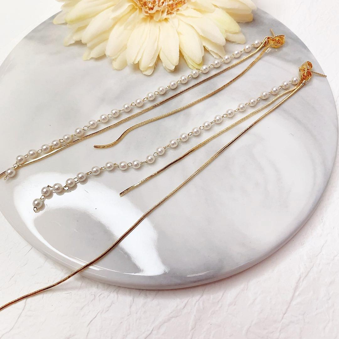 【 即納 秋冬新作】 高品質  ピアス 925ポスト ゴールドメッキ ラインストー アクセサリー   真珠
