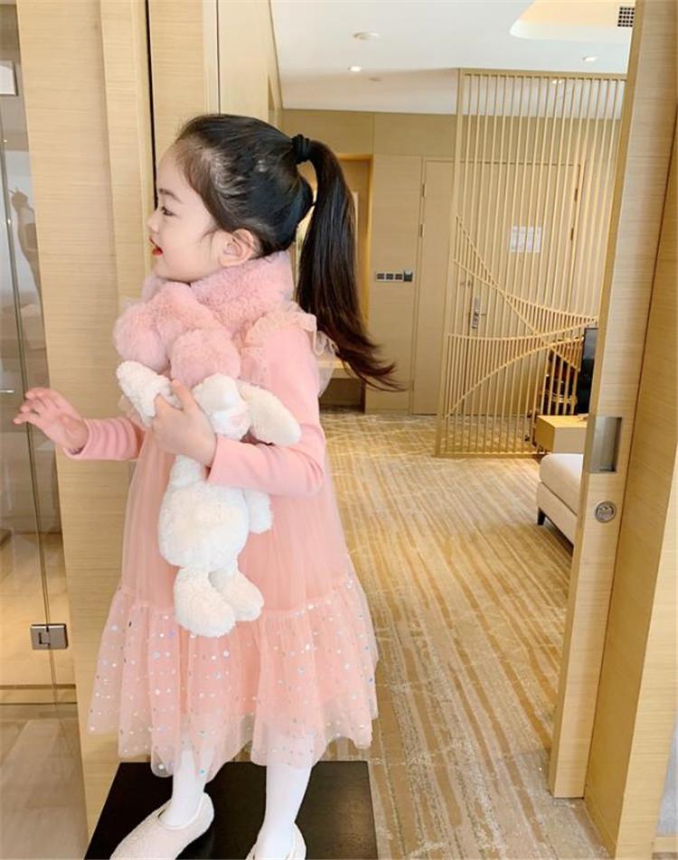 韓国の人気爆発 通勤する 女の子 お姫様ドレス 縫付 レーヨン 裏起毛 暖かい 気質 快適である 可愛い