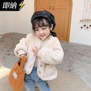 【即納】厚いジャケット 暖かい子供服 無地 シンプル 冬秋