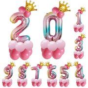 数字 バルーン 立体セット 誕生日 プリンセス ナンバー バルーン 風船 飾り付け サプライズ 大きい