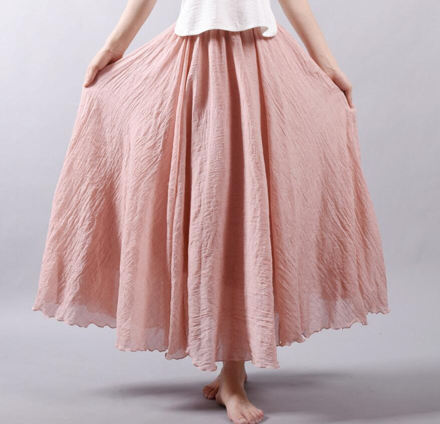 2021年春夏新作 レディース 韓国風 スカート ロング   通勤 ファッション 10色75-95cm
