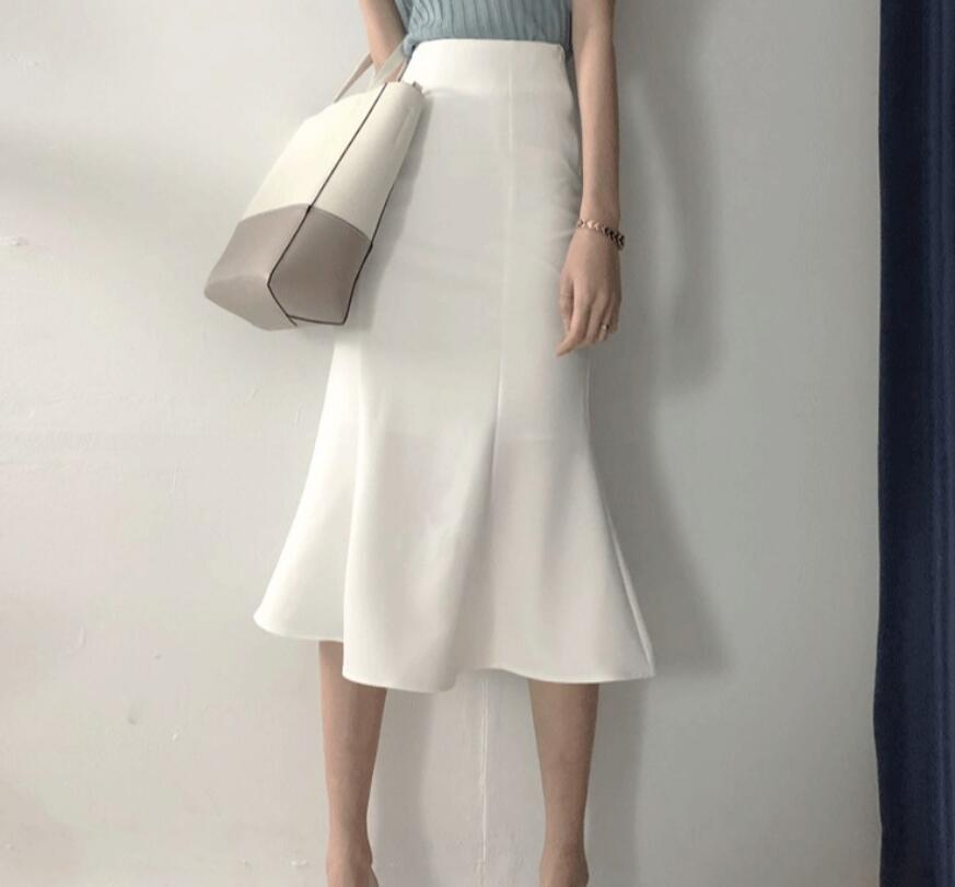 2021年夏新作 レディース 韓国風 スカート マーメイドスカート 通勤 気質 優しい 2色S-XL