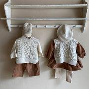 秋冬新作 女の子 男の子 ベスト ニット 上着 子供服 キッズ服 韓国ファッション
