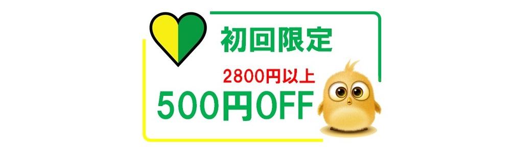 新規限定 500円OFF
